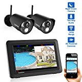 CasaCam VS802 Wireless Security Camera System with 7' Touchscreen and HD Nightvision Cameras, AC Powered (2-cam kit)