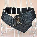 RelaxLife Mujer Vestido Cinturón Cinturón Elástico Ancho Ancho Cinturón De Moda para Mujer Remache De Metal Dorado Cinturones Anchos para Abrigo De Abrigo Estilo Retro Cummerbund