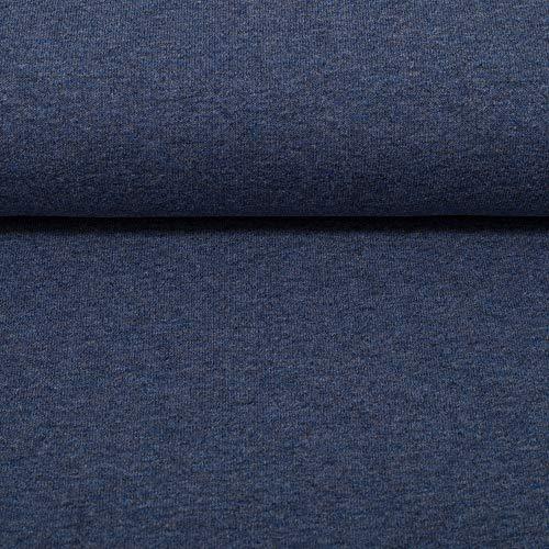Swafing GmbH Sommersweat Uni dunkelblau meliert - Stoff - Meterware - 0,5m x VB