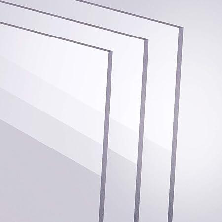 Acrylglas Zuschnitt Plexiglas Zuschnitt 10-25mm Platte//Scheibe klar//transparent 12 mm, 500 x 250 mm