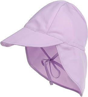 Happy Cherry - Czapka z daszkiem z ochroną karku, czapka plażowa, dla dzieci, chłopców, dziewczynek, unisex, wiązane taśm...