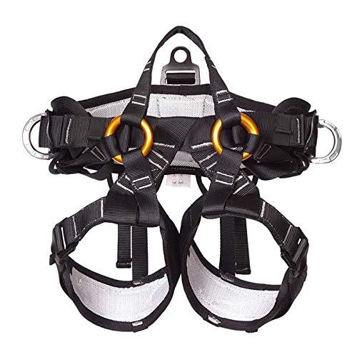 YEXINTMF Protección contra caídas Proteger el arnés de seguridad de la cintura, equipos de techo de escalada en roca de montañismo ajustable, adecuado para cualquier persona que requiera protección co