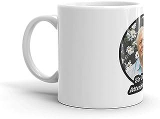 Sir David Attenborough. 11オンスマグカップ 丈夫なセラミック製 握りやすいハンドル付き このコーヒーマグは重量感がありながらクラシックな雰囲気