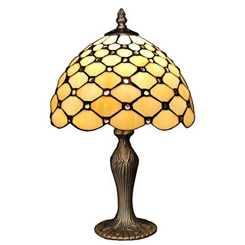 Arte Dal Mondo Nachttischlampen tischlampe glas im tiffany-stil handwerk mit bogen GA10026