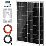 VEVOR Panel Solar 2 PCS 100 W Kit de Panel Solar 12 V Panel Solar...