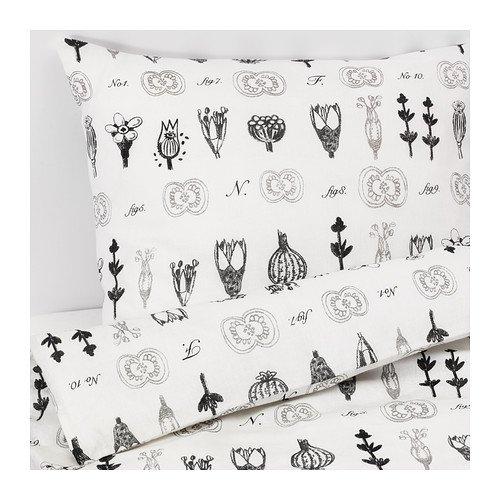 IKEA SISSELA 掛け布団カバー&枕カバー ホワイト 30283012