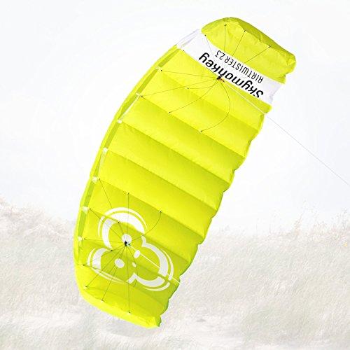 Skymonkey Airtwister 2.3 Lenkmatte mit Flugschlaufen Ready 2 Fly- 230 cm [grün-gelb]