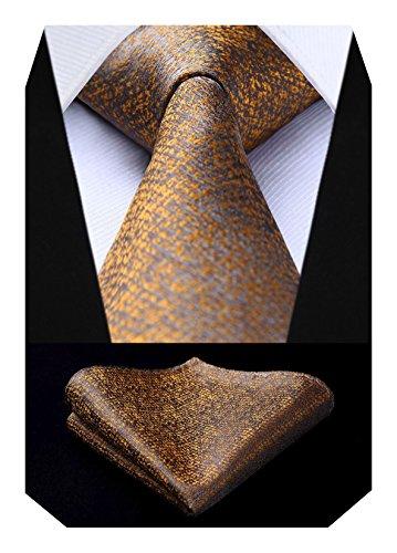 HISDERN Herren Check Dot Krawatte Taschentuch Hochzeit Party Krawatte & Einstecktuch Set