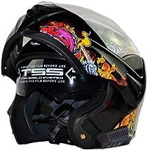 Casco moto per adulti Bluetooth in fibra di carbonio doppia lente Flip Up Casco moto Outdoor Full Face Protezioni Moto Accessori in tutte le stagioni