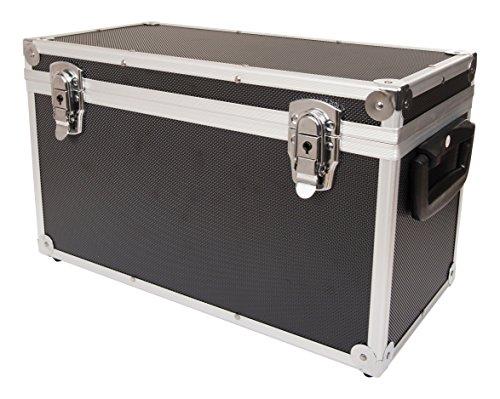 Pro Box 44942 45 Caja para discos de vinilo, tamaño grande, color negro