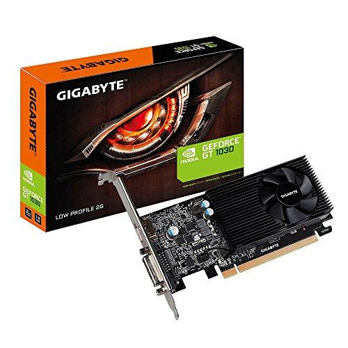Gigabyte GV-N1030D4-2GL GeForce GT 1030 2GB GDDR4 - Tarjeta gráfica (GeForce GT 1030, 2 GB, GDDR4, 64 bit, 4096 x 2160 Pixeles, PCI Express x16 3.0)