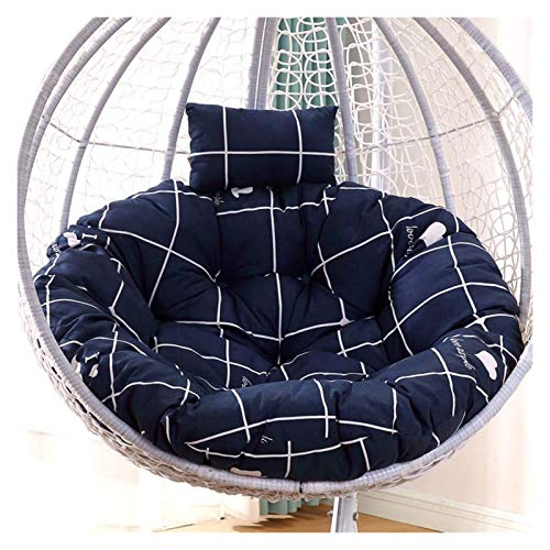 Home Decoration Swing Chair Cushion Thicken Patio Swing Chair Cushion For Outside,Round Hanging Egg Hammock Chair Cushion Without Stand, Wicker Rattan Hanging Basket Seat Cushion Hanging Basket Furnit