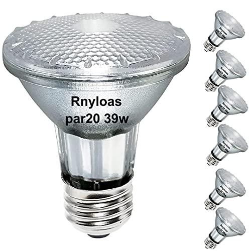 PAR20 Halogen Light Bulbs, 6PCS PAR20 Flood 39W...