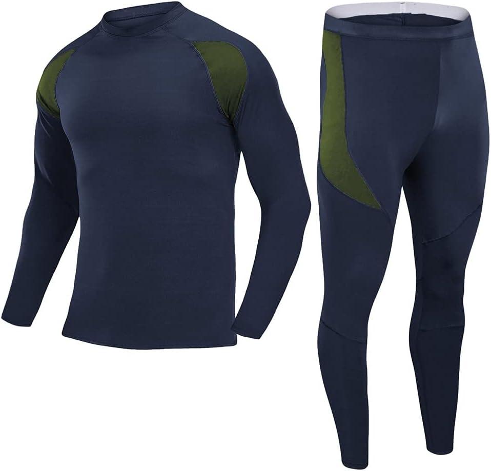 SLATIOM Outdoor Fleece Thermal Underwear Underwear Suits Movement Winter Thermal Underwear Men Warm Compression (Color : D, Size : L code)