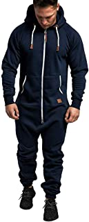Men's 2 Piece Tracksuit Set, Zipper Solid Hoodie Coat Jacket+Elastic Pants Sweatpants for Jogger Sports Fitness Running
