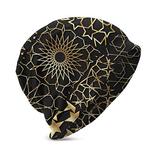 Arabesque Gold Pattern Hintergrund Sammlung Baumwolle Beanie Hut für niedlichen Baby Boy/Girl Soft Toddler Infant Cap