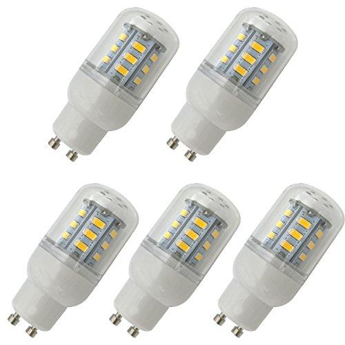 Aoxdi 5x GU10 LED Glühbirne 4W, Warmweiß, Nicht Dimmbar 24 SMD 5730 LED GU10 Lampe Leuchtmittel, AC220-240V