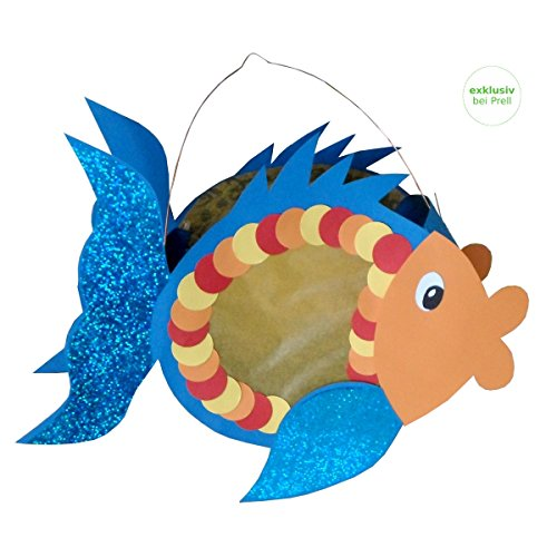Laternen Bastelset Fisch, 30 x 23 cm, 3 Stück