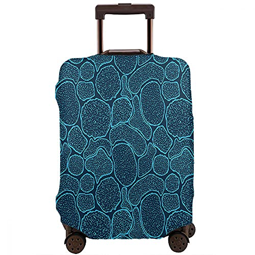 Wondertify Virus Cells Under The Electron Microscope Luggage Cover Microbes Bacteria In The Scanning View Washable Suitcase Protector Anti-Scratch Suitcase Cover Fits 22-24 Inch