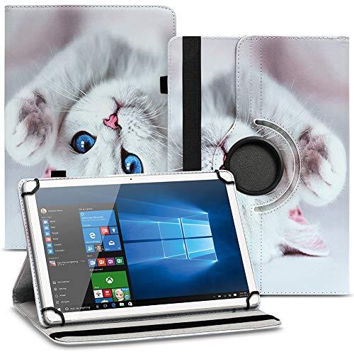 UC-Express Tablet Schutzhülle kompatibel für Asus ZenPad 10 Z301ML Z301MFL Z300M Hülle Tasche 360° Drehbar Kunstleder Standfunktion Cover Universal Hülle, Farben:Motiv 10