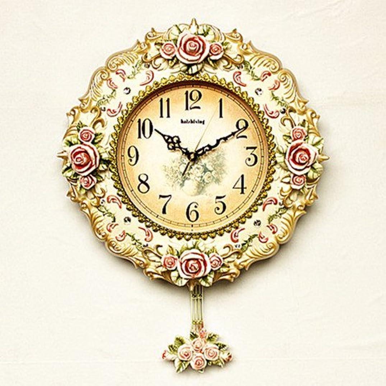 Stylish, Silent Wall Clock Home,KitchenEuropean Creative Decorative Wall Clock Living Room Clock Modern Swing Quartz Clock American Clock Mute Wall Clock Pendulum Clock, 20 inches, Champagne Gold
