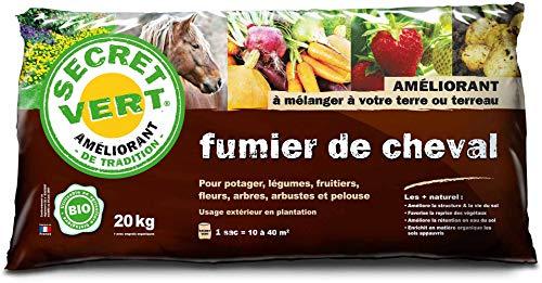 Secret Vert Fumier de Cheval Bio 20 kg