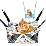 Hamaca pequeña de doble capa, para mascotas pequeñas, hamster, chinchilla, siesta, para animales pequeños, con bolsa de glaseado, hurones, ardilla, rata, juegue, dormir (13,8 x 13,8 pulgadas)
