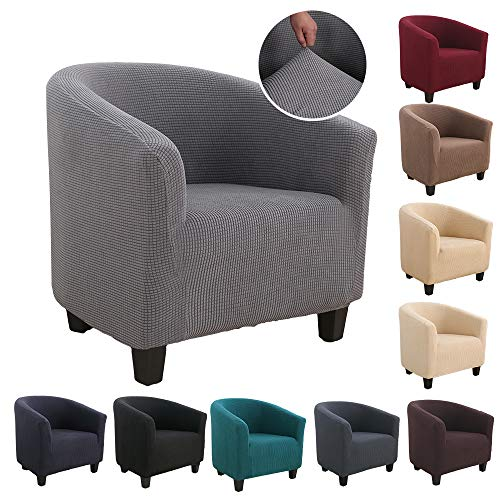 Souarts Sesselhussen Sesselbezug Stretch Elastisch Sofahusse Sofabezug Sesselschoner Couch Husse Sofaüberwurf (Silbergrau)