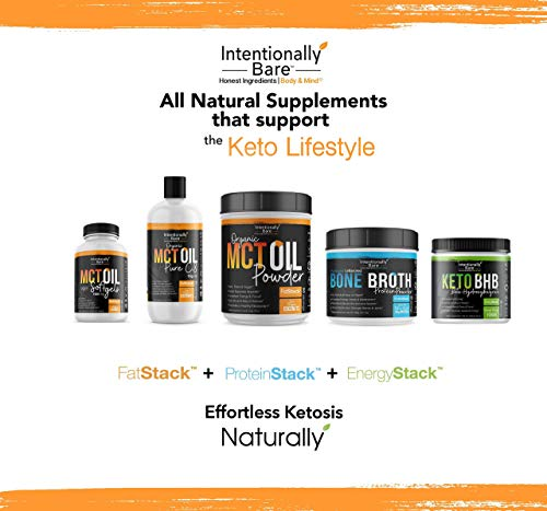 Intentionally Bare MCT Oil Bundle – Organic – High C8 Caprylic Acid - Home and Away - Appetite Suppressant, Metabolism Boosting, Helps with Intermittent Fasting and Ketosis 9