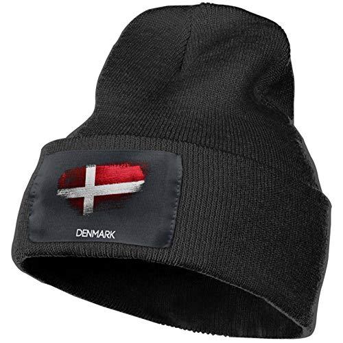 DOGPETROOM - Gorro de invierno con diseo de bandera de Dinamarca para hombres y mujeres, color negro