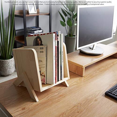 QQDL Revistero Archivos,Organizador de Documentos Desktop Storage Box,Estantería de Escritorio de Madera Maciza,pequeña estantería Multicapa de Oficina,Oficina,Escuela,Escritorio,Caja organizadora,