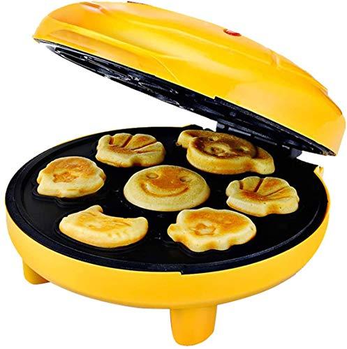Volautomatische wafelijzer keukenmachine met 7 formulier wegwerpaanstekers aanbakplaten