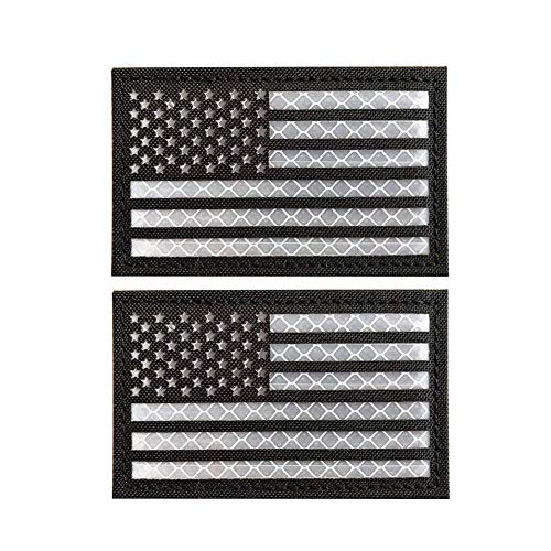 American Flag Patch, Tactical Military Flag Patches, American Military Flag Emblem Patch. (Reflective-01)