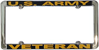 Honor Country US Army Veteran Thin Rim License Plate Frame