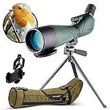 Cannocchiale 20-60X80 Impermeabile Birdwatching Telescopio monoculare HD con adattatore te...