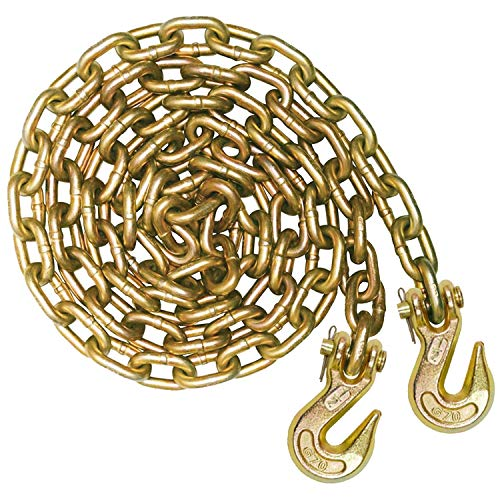 VULCAN Grade 70 Binder Chain with Clevis Grab Hooks - 1/2 Inch x 20 Foot - 11,300 Pound Safe Working Load