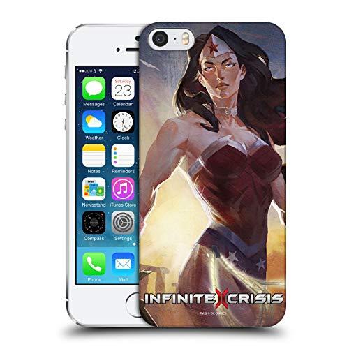 Head Case Designs Ufficiale Infinite Crisis Wonder Woman Personaggi Cover Dura per Parte Posteriore Compatibile con Apple iPhone 5 / iPhone 5s / iPhone SE 2016
