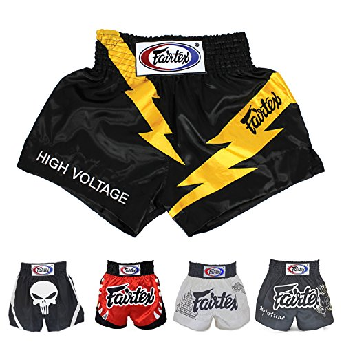 Fairtex Muay Thai Boxing Shorts Size: S M L XL - Shorts Kick Boxing MMA K1 (BS0656 High Voltage,...