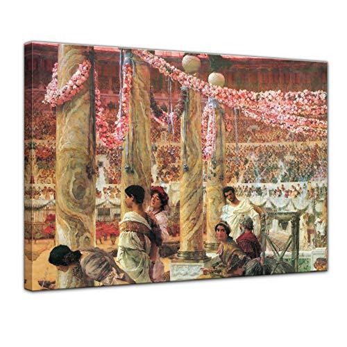 Leinwandbild Lawrence Alma-Tadema Caracalla und Geta - 70x50cm quer - Wandbild Alte Meister Kunstdruck Bild auf Leinwand Berühmte Gemälde