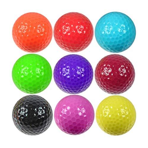 9 PCS Balles De Golf Coloré Pratique Balles De Golf Balles...