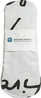 NATURAL EARTH [ナチュラルアース] 一体型 手作り 布ナプキン 防水布付き 【イングリッシュホワイト 普通の日用 レギュラーサイズ 23cm】 <防水布を使用していますのでモレずに安心!>