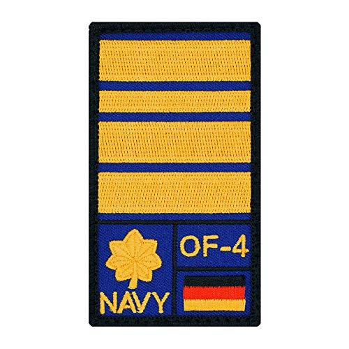 Café Viereck ® Fregattenkapitän Marine B&eswehr Rank Patch mit Dienstgrad - Gestickt mit Klett – 9,8 cm x 5,6 cm (Blau)