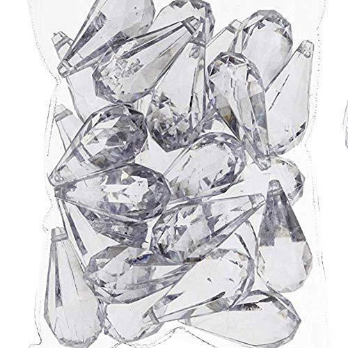 PMLAND Hanging Acrylic Crystal Rain Drop Tear Drop Like Diamond Approx 26 Pieces