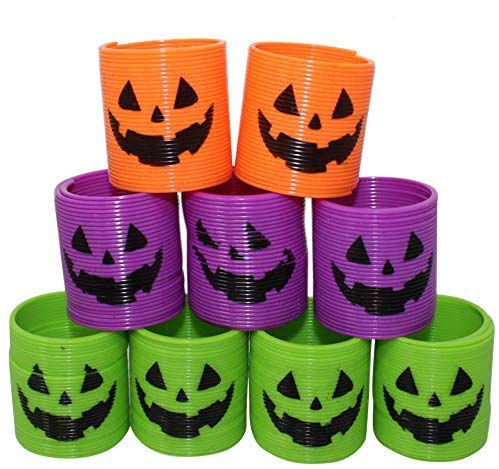 THE TWIDDLERS 36 Mini Halloween Magic Springs - 4 Styles, Perfect for Halloween Deco, Trick or Treat, Party Favours - Class Rewards, Toy Favors and More