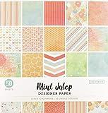 Colorbok Designer Paper Pad, 12' x 12', Mint Julip