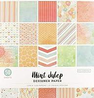 ColorBok 73490A デザイナーペーパーパッド ミントジュリップ 12インチ x 12インチ