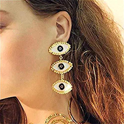 Cathercing Punk Fashion Devil's Eye Ohrringe für Frauen, Vintage-Charm, einzigartiger handgefertigter Schmuck, Shooting Collocation