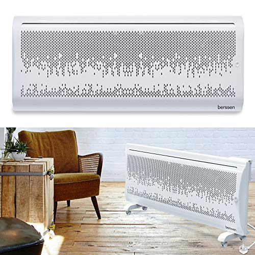 berssen Panel Heater 2000W Electric Heater Free Standing/Wall Mounted 2in1 Convector Radiator Heater LCD...