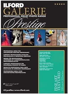 ILFORD 2002412 GALERIE Prestige Fine Art Textured - 13 x 19 Inches, 25 Sheets