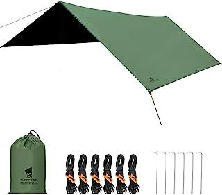 GeerTop 防水タープ キャンプ タープ 天幕シェード UVカット 遮熱 日除け 紫外線防止 耐水 軽量 キャンプ ハイキング ピクニック テント お花見 登山 3m×3m 2-6人用